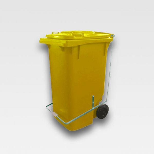 carrinho coletor de lixo 120 litros com pedal