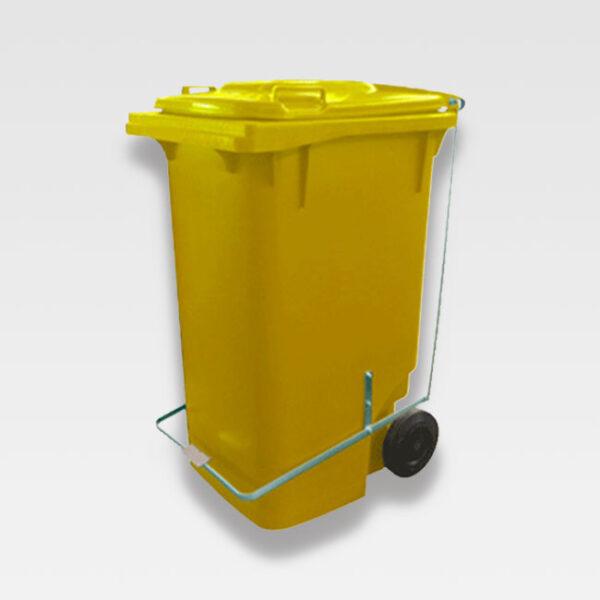 Carrinho Coletor de Lixo 240 Litros com pedal